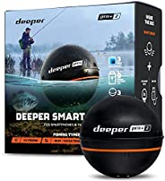 Deeper Pro Plus 2 Castable and Portable GPS Enabled Fish Finder for Kayaks Boats on Shore Ice Fishing Wireless