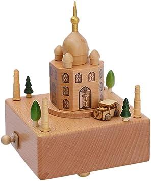 Caja de música, Mallalah caja musical de cuerda para Navidad, Acción de Gracias, manualidades, decoración del hogar para niñas y niños: Amazon.es: Bricolaje y herramientas