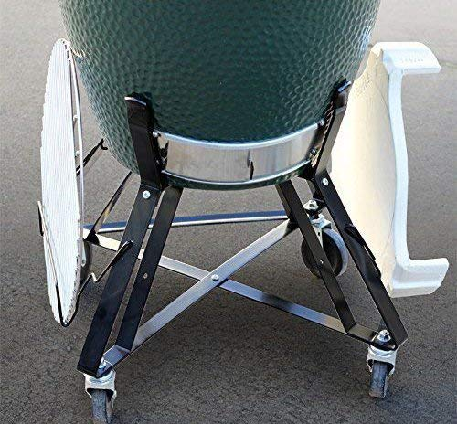 Dracarys Rolling Cart Big Green Egg Accessories,BBQ Rolling Nest with Heavy Duty Locking Caster Wheels Powder Coated Steel Rolling Outdoor Cart for Large Big Green Egg Kamado Joe Grill Stand Cooking
