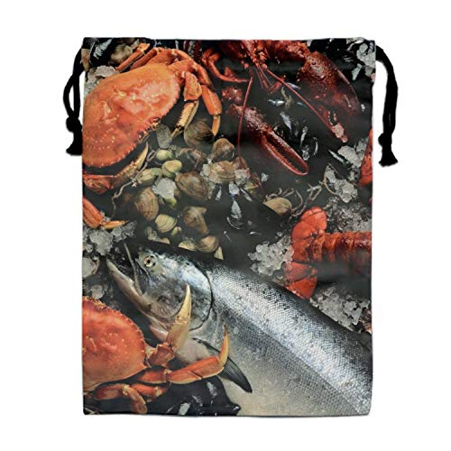 Fish Fresh Mussel - Fresh Fish Crab Lobster Mussels Drawstring Bag Sequin Party Favors Backpack Gift for Girl
