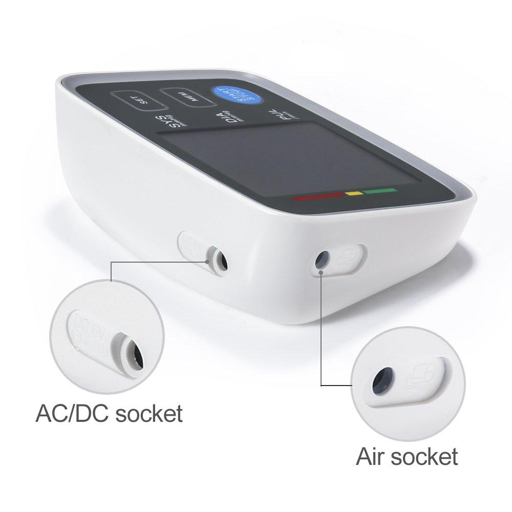 Monitor de Presion Arterial GrandBeing, Detección Ritmo Cardíaco, Medidor Hipertensión de Brazo de Forma Precisa y Automática con Pantalla LCD ...