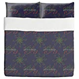 Holy Days Blue Duvet Bed Set 3 Piece Set Duvet Cover - 2 Pillow Shams - Luxury Microfiber, Soft, Breathable