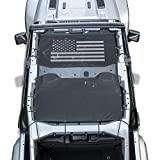 Danti Front Eclipse Sunshade Mesh Sun Shade Top Cover with USA Flag Provides UV Sun Protection for Jeep Wrangler 4 Door JL 2018 Soft Top