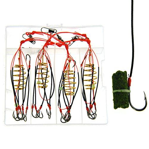 4 IN 1 #8~#12 CARP Boob THKFISH ® FISHING HOOKS POWDER BAIT Trap Hook SYSTEM New Design