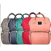 LAND Diaper Bag Backpack - Gray Blue Red Black Aqua Coral