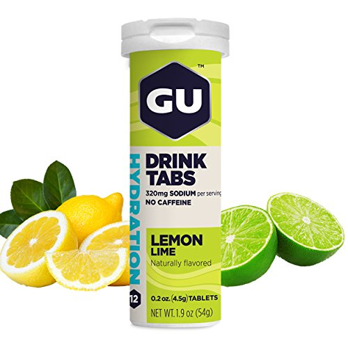 GU Hydration Electrolyte Drink Tablets, Lemon Lime, 8 (320 Mg Tab)