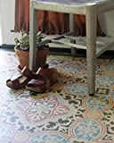 Anatolia Tile Stencil for Painting Floors or DIY Wallpaper Look on Walls