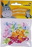 i-mondi Kunststoffschnuller zum Basteln, Farben sortiert, 24 Stück, Größe: 22 mm