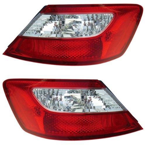 Honda Civic 2 Door Tail (06 07 Honda Civic 2-Door Coupe Taillight Taillamp Pair)