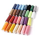Ouba 30 Spools Polyester Sewing Threads Assorted Color 250 Yards machine Embroidery Sewing Threads