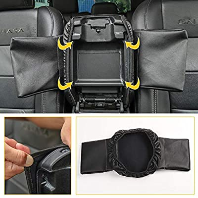 JL Center Console Cover Armrest Cover Pad for 2020-2020 Jeep Wrangler JL JLU Sahara Sport Rubicon X & Unlimited, for 2020 Jeep Gladiator JT Truck: Automotive