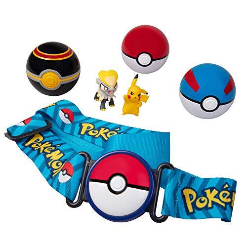 Pokémon Clip N Go Belt Set with 3 Poké Balls & 2 Figures - Includes Pikachu and Jangmo-O Figure - Holds Up to 6 Pokeballs - Ages 4 +