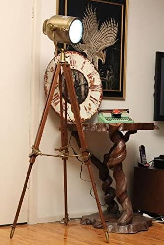 Brown Antique Rustic Nautical Searchlight