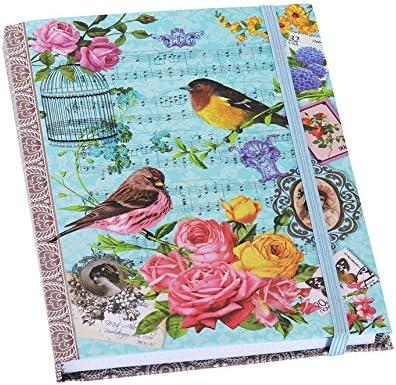 Notizbuch Vintage Memory Planer Wendekreis Adressbuch Birds Flowers