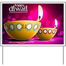 CafePress - Happy Diwali Yard Sign - Yard Sign, Vinyl Lawn Sign, Political Election Sign