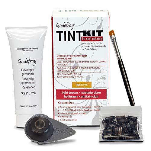 Godefroy Professional Tint Kit, Light Brown, 20 Count (Dying Hair Dark Brown To Light Brown)