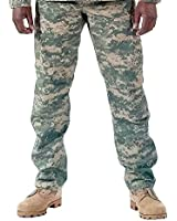 Camouflage Military BDU Pants, Army Cargo Fatigues (ACU Digital Camouflage)