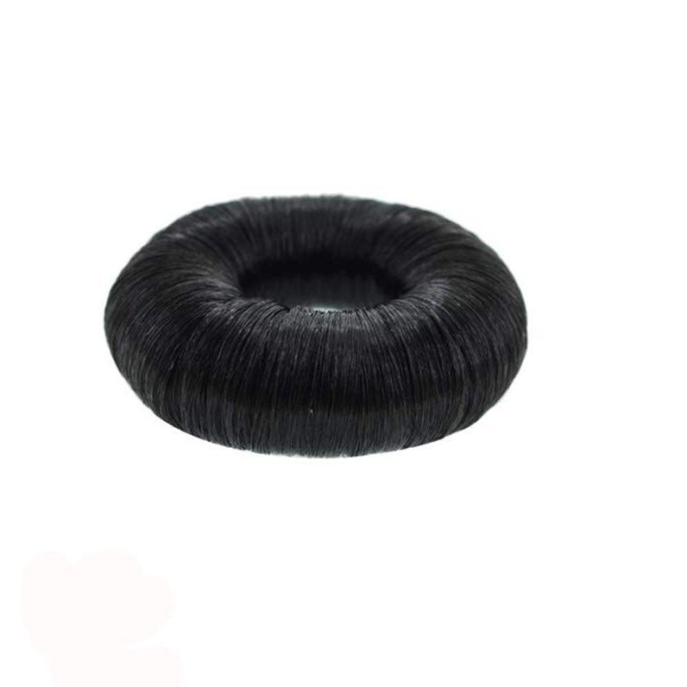 Chouchou pour Chignon Donut - Imitation Cheveux - Noir Brun Les Plaisirs de Stella