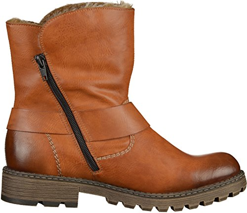 WOMENS Brown BOOTS FIT BIKER WIDE RIEKER dwx8TqPd