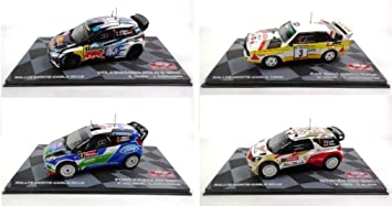 Générique Set of 4 Rally Cars WRC 1/43 Ixo (BR1 + BR2 + BR4 + ...