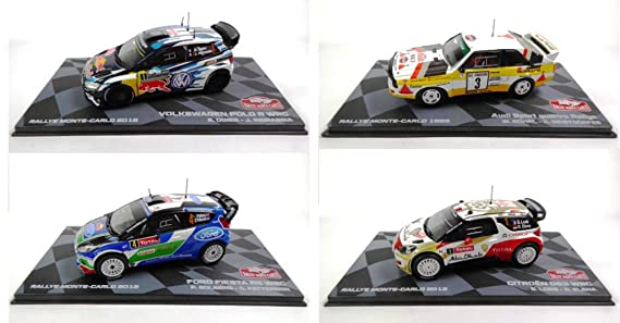 Générique Set of 4 Rally Cars WRC 1/43 Ixo (BR1 + BR2 + BR4 + BR5): Amazon.es: Juguetes y juegos