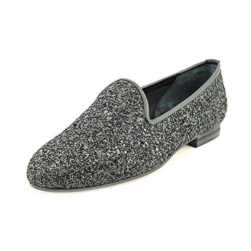 Ramon Tenza Kvinna Taylor Läder Mandel Tå Loafers Svart