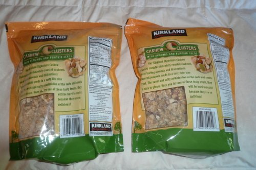 Kirkland Cashew Clusters with Almonds and Pumpkin Seeds Gluten Free 32 oz (Pack of 2) by Kirkland Signature (Image #1)