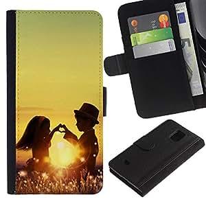 JackGot ( Niños Pareja ) Samsung Galaxy S5 Mini (Not S5), SM-G800 la tarjeta de Crédito Slots PU Funda de cuero Monedero caso cubierta de piel