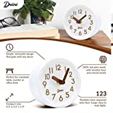Driini Wooden Desk & Table Analog Clock Made of