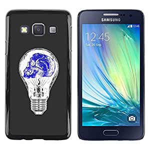 Paccase / SLIM PC / Aliminium Casa Carcasa Funda Case Cover - Light Bulb Blue White Idea Skull Deep - Samsung Galaxy A3 SM-A300