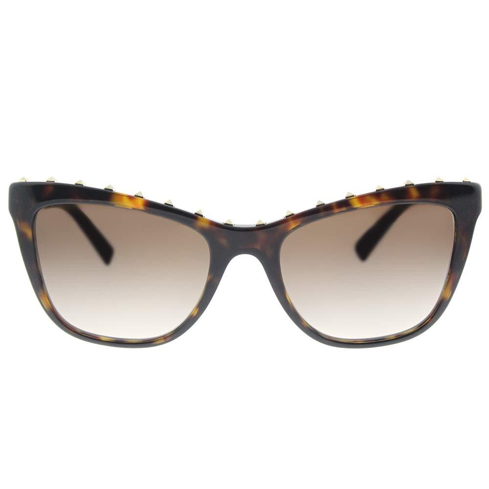6a581f99c00b Amazon.com: Valentino Studded Cat Eye Sunglasses, 54mm - Havana/Brown  Gradient: Clothing