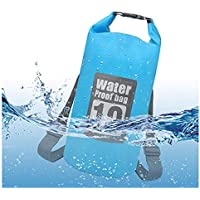Conbo Waterproof Dry Bag Backpack for Kayaking, Travel, Boating, Swimming, Water Sports, Water Proof Floating Storage Bag 10L for Camping, Fishing, Rafting, Hiking and Beach, Blue