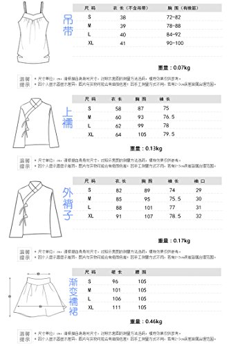 Generic Heavy embroidered Chinese clothing Chinese wind classical retro ladies temperament waist-breasted jacket skirt suit literary fairy for women girl by Generic (Image #4)
