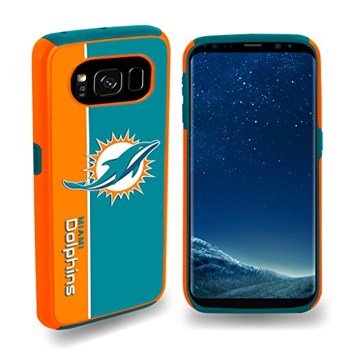 Forever Collectibles Miami Dolphins Samsung Galaxy S8 Bold - Dolphin Phone Accessories