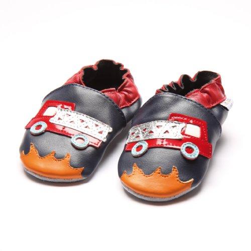 Jinwood designed by amsomo - Patucos de Piel para niña Multicolor - fire engine soft sole