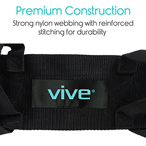 Transfer Belt with Leg Loops by Vive - Medical Nursing Safety Gait Assist Device - Bariatrics, Pediatric, Elderly, Occupational & Physical Therapy - Long Strap & Quick Release Metal Buckle - 55 Inch by Vive (Image #5)
