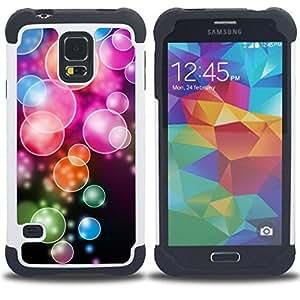 - Anime Color Bubble Pattern/ H??brido 3in1 Deluxe Impreso duro Soft Alto Impacto caja de la armadura Defender - SHIMIN CAO - For Samsung Galaxy S5 I9600 G9009 G9008V