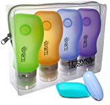 Travel Accessory Bottles (4) + TOOTHBRUSH CASE (2) + POUCH | TSA Approved