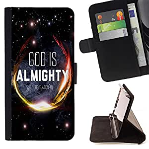 Jordan Colourful Shop - FOR Sony Xperia Z2 D6502 - god is almighty - Leather Case Absorci¨®n cubierta de la caja de alto impacto