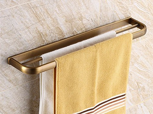 HOMEE All Copper European Bathroom Towel Bar Bathroom Thickening Rack by HOMEE