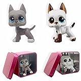 SKY@ 2 PCS White Gray Great Dane Dog Puppy free gift box