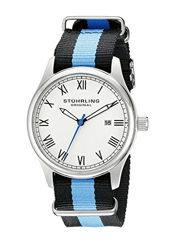 Stuhrling Original Unisex 5221 Gen X Liberty Stainless Steel Watch with Canvas Band