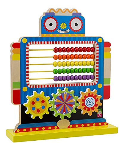 Alex Jr. Jungle Fun Activity Cart, My Busy Town Wooden Activity Cube and Count N Spin Abacus Robot, Playset, Alphabet, Matching, Sensory, Math, Counting, Numbers, Colors, Early Learning, Educational by ALEX Jr. Toys (Image #6)