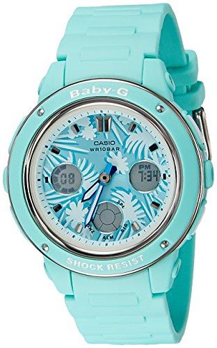 Casio Baby G Green Dial Polyurethane Strap Ladies Watch BGA-150F-3A