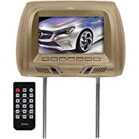 BOSS AUDIO HIR70UT 7 Headrest Monitor with IR Transmitter & USB/SD Card Ports (Tan)