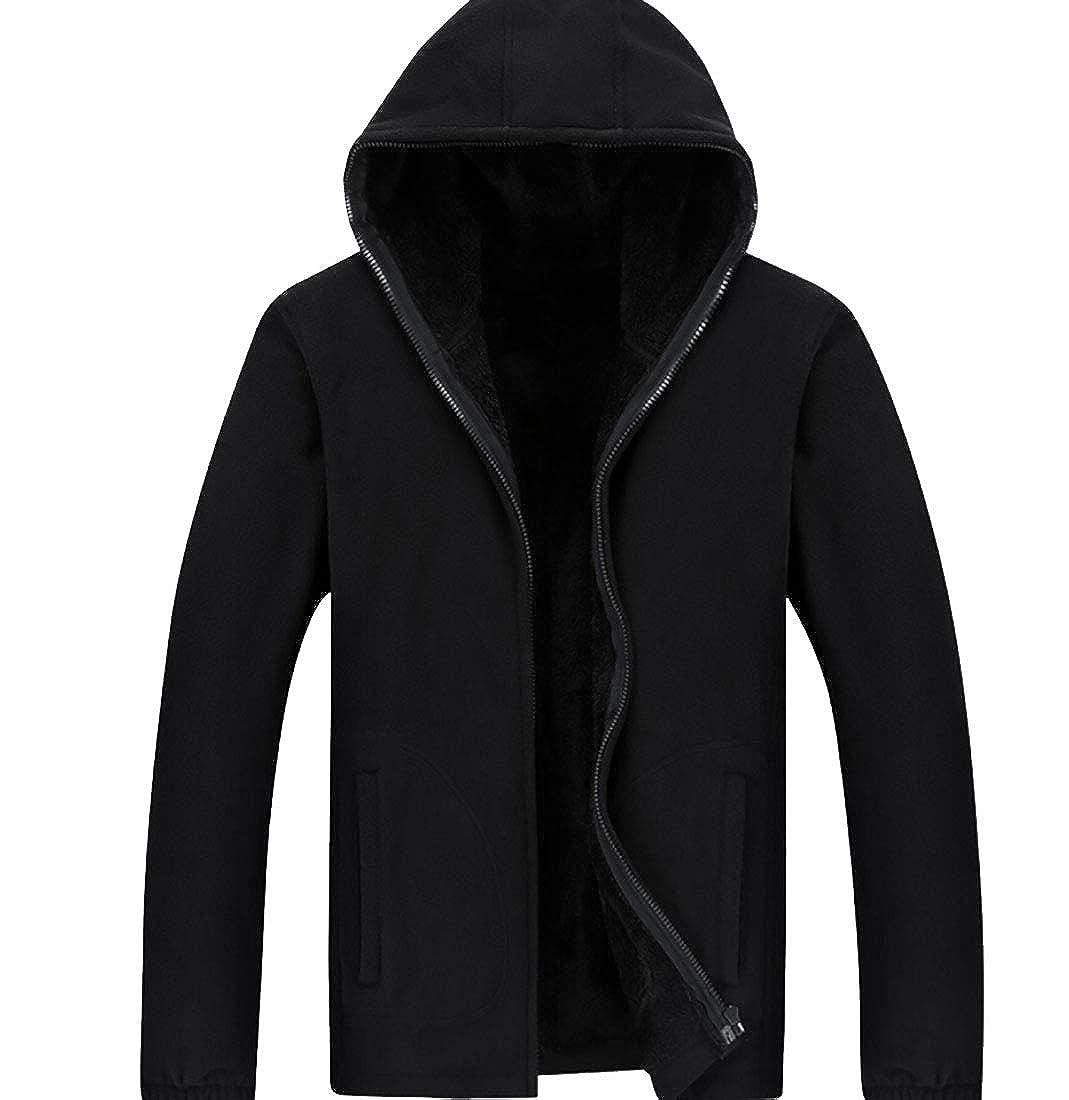 desolateness Mens Fleece Sweatshirt Hoodies Thick Wool Warm Winter Jacket Coats