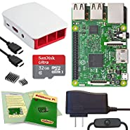Viaboot Raspberry Pi 3 Complete Kit — 32GB Official Micro SD Card, Official Red/White Case Edition
