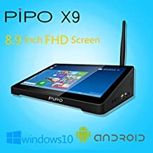 """Pipo X9 2G/64G Mini PC TV Box printer monitor server Support Dual System Windows 10 Android 4.4 Media Player Device Intel Z3736F Quad Core 2.16GHz 8.9"""" Tablet"""
