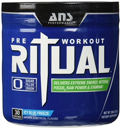 ANS Performance 30 Serving Ritual Pre Workout, Icy Blue Freeze, 8.5 Ounce