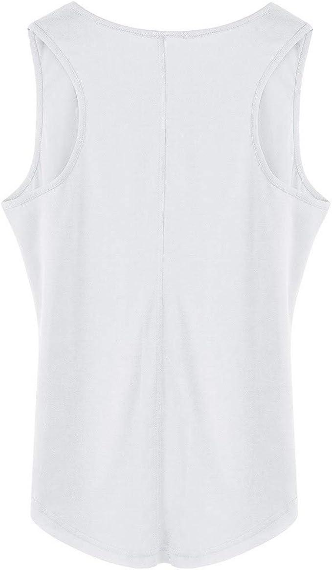 TAIPIEN Camisetas Sin Mangas Mujer Camisas Mujer Manga Corta Verano Chalecos de Vestir de Color Sólido Tops Casual Jerséis Cárdigans Sudaderas Shirt Vest: Amazon.es: Ropa y accesorios
